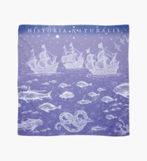 Natural History II in Blue   CreateArtHistory Scarf