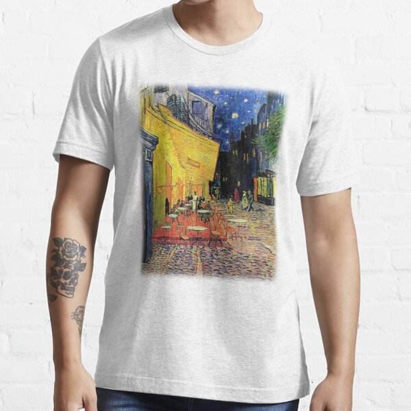 The Cafe Terrace on the Place du Forum, Arles, at Night,  Vincent van Gogh Essential T-Shirt