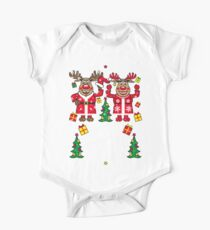 Hirsch Rudolph with Mrs. Rudolphine Merry Christmas One Piece - Short Sleeve