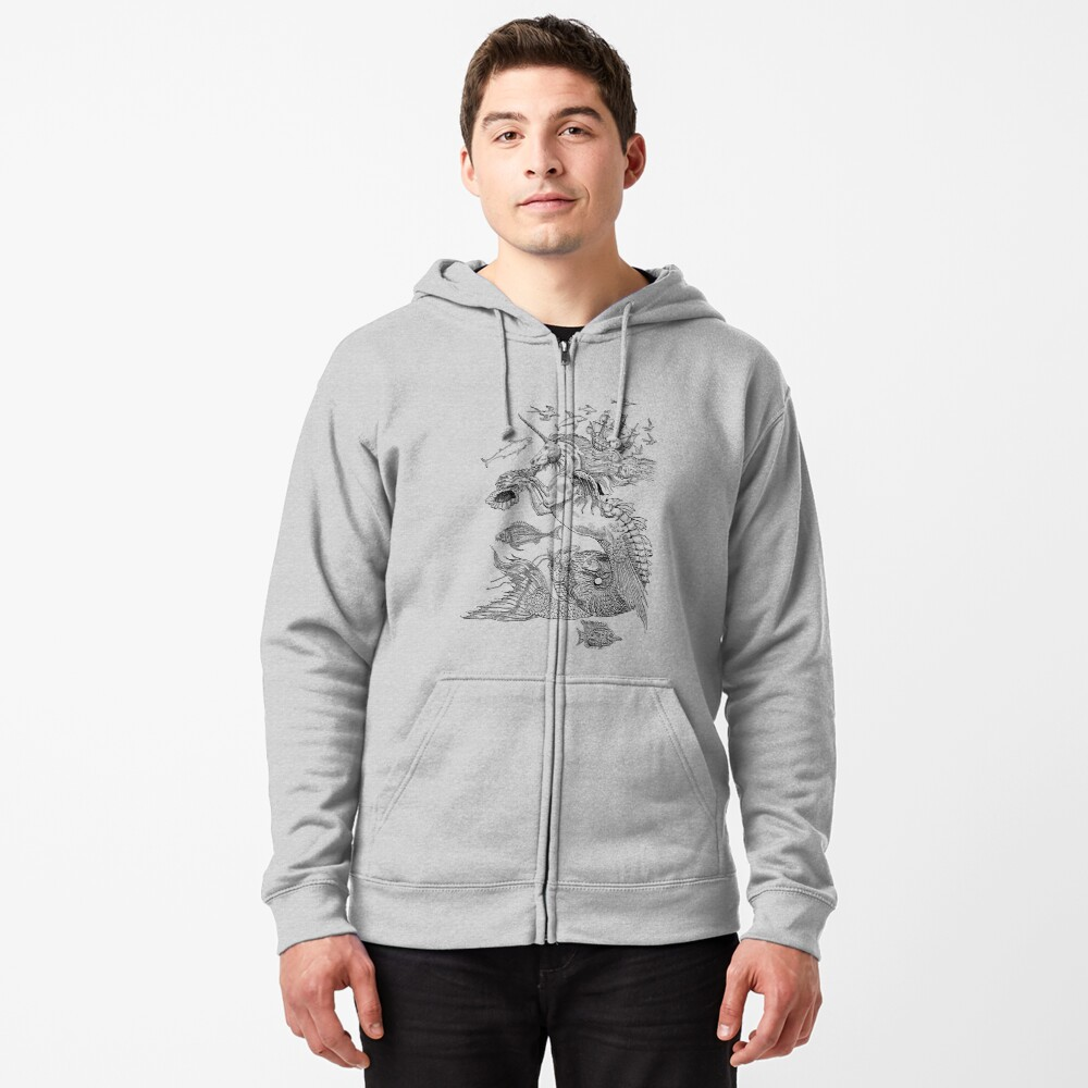 Weird and Wonderful Creatures Zipped Hoodie