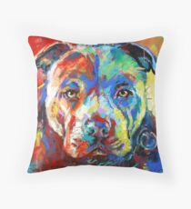 Stafforshire Bull Terrier Throw Pillow