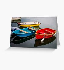Primary Boats Greeting Card