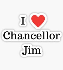 I Love Chancellor Jim NY Style Sticker