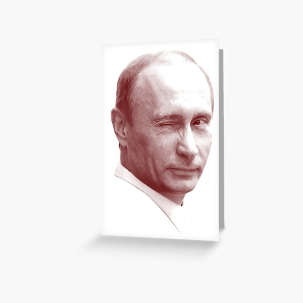 Vladimir Putin Greeting Cards Redbubble