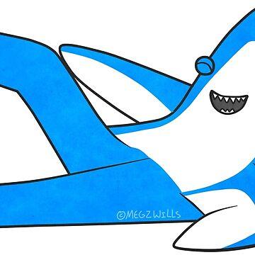 Saucy Superbowl Shark by MegzWills