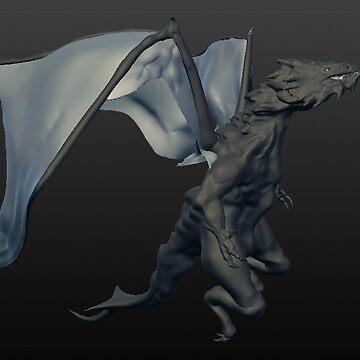 3D sculpture dragon by DarrelLeigh