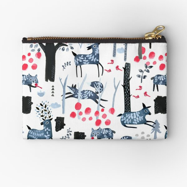 Frosted Forest Zipper Pouch