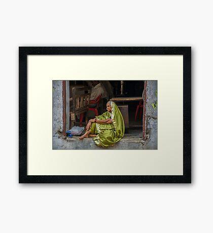 Sari Daydreams Framed Print