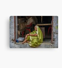 Sari Daydreams Canvas Print