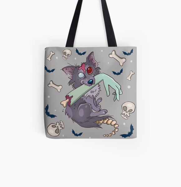 Rufus zombie dog All Over Print Tote Bag