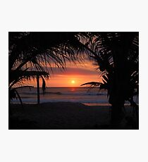 Tropical Sunset in Peru Photographic Print