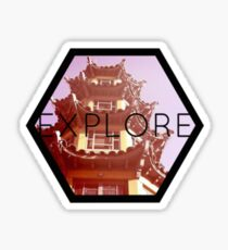 Asian Exploration Print Sticker
