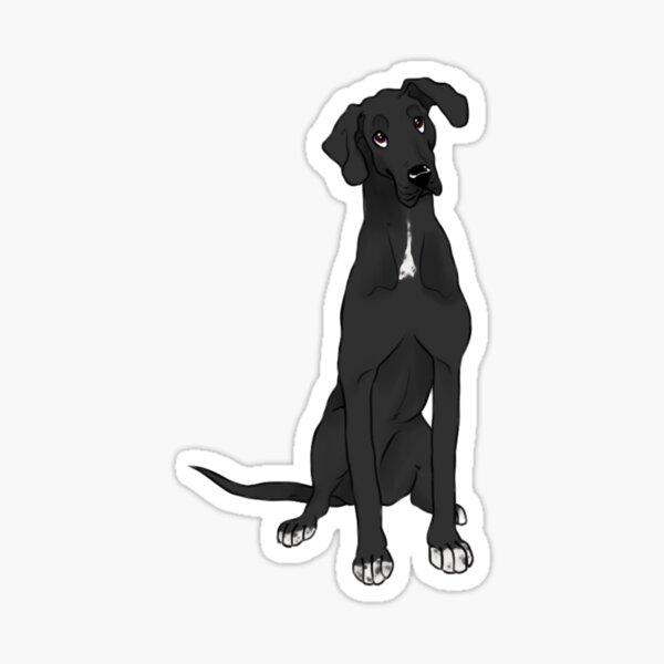 Black Great Dane Sticker