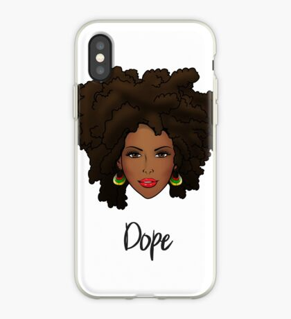 Dope Natural Hair Woman iPhone Case