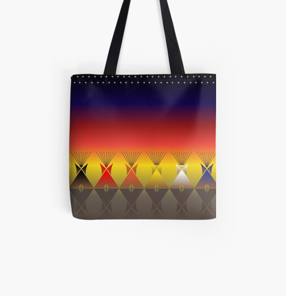 Night Tipi All Over Print Tote Bag