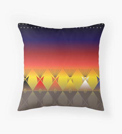 Night Tipi Throw Pillow