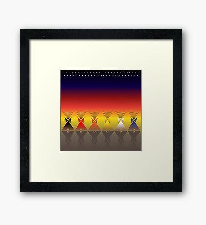 Night Tipi Framed Print