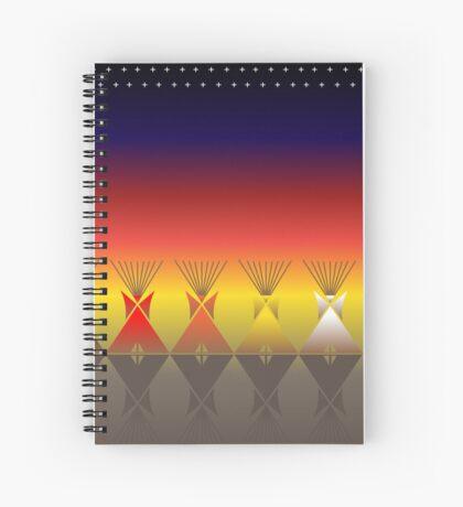 Night Tipi Spiral Notebook