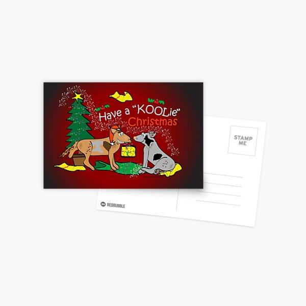 Have a Koolie Christmas Postcard