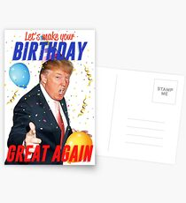 Birthday Trump Postcards