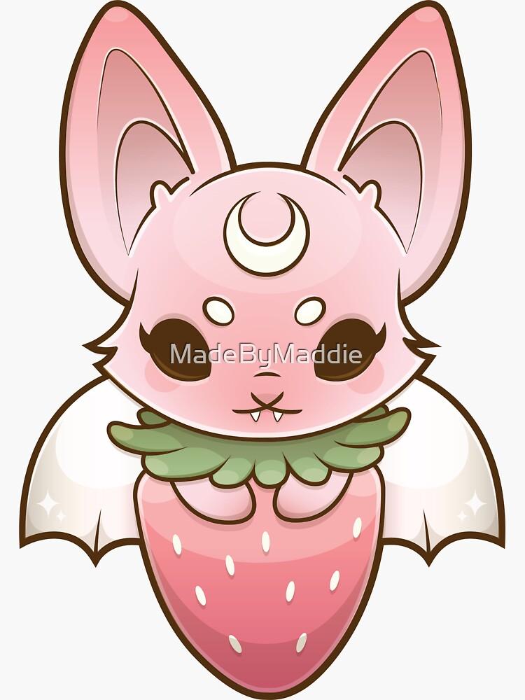 Fruit Bat - PINK♡ by MadeByMaddie