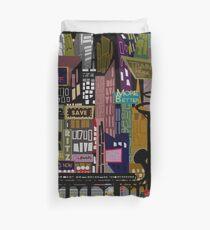 Retro City Print Duvet Cover