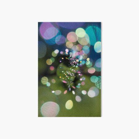 Soap Film - Bubbles in a spin  Art Board Print