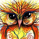 Bonfire Owl by Sheridon Rayment by Sheridon Rayment