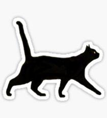 Black Cat Walkin' Sticker