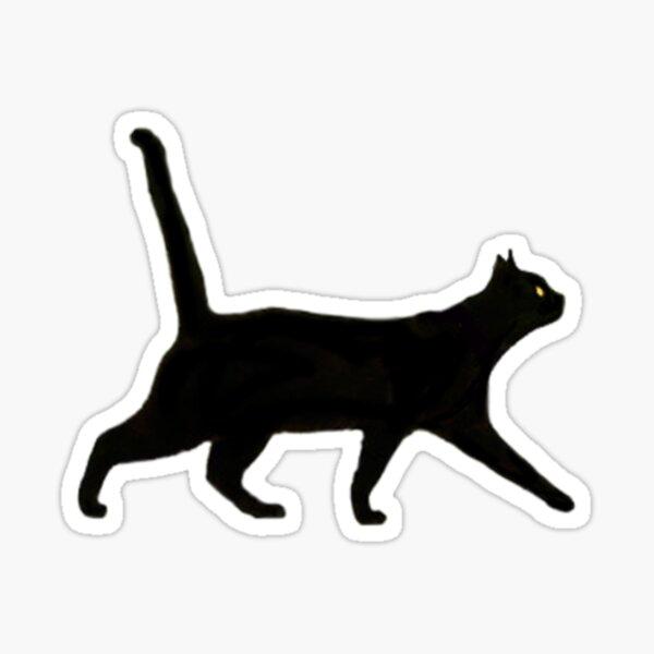 Black Cat Walkin ' Sticker