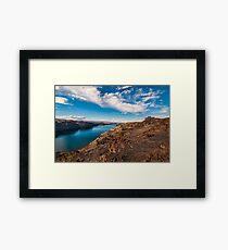 Valley of the wild horses landscape Framed Print