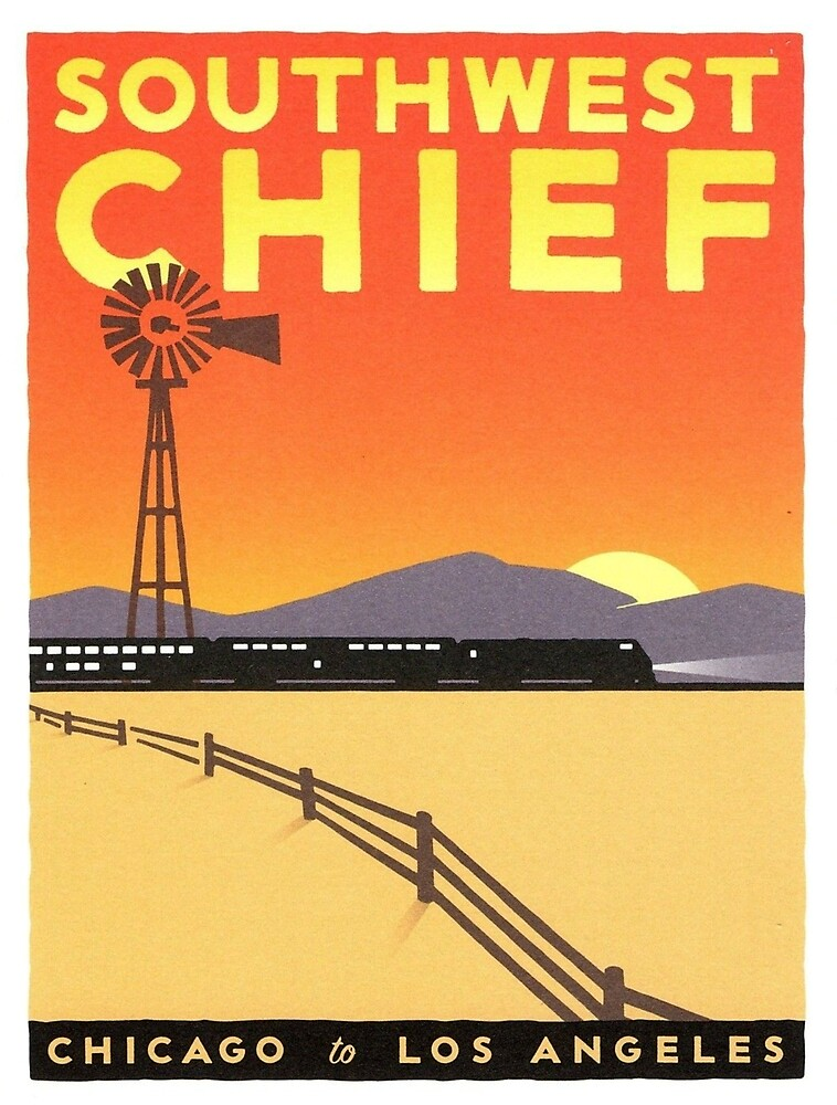 Vintage poster - Southwest Chief by mosfunky