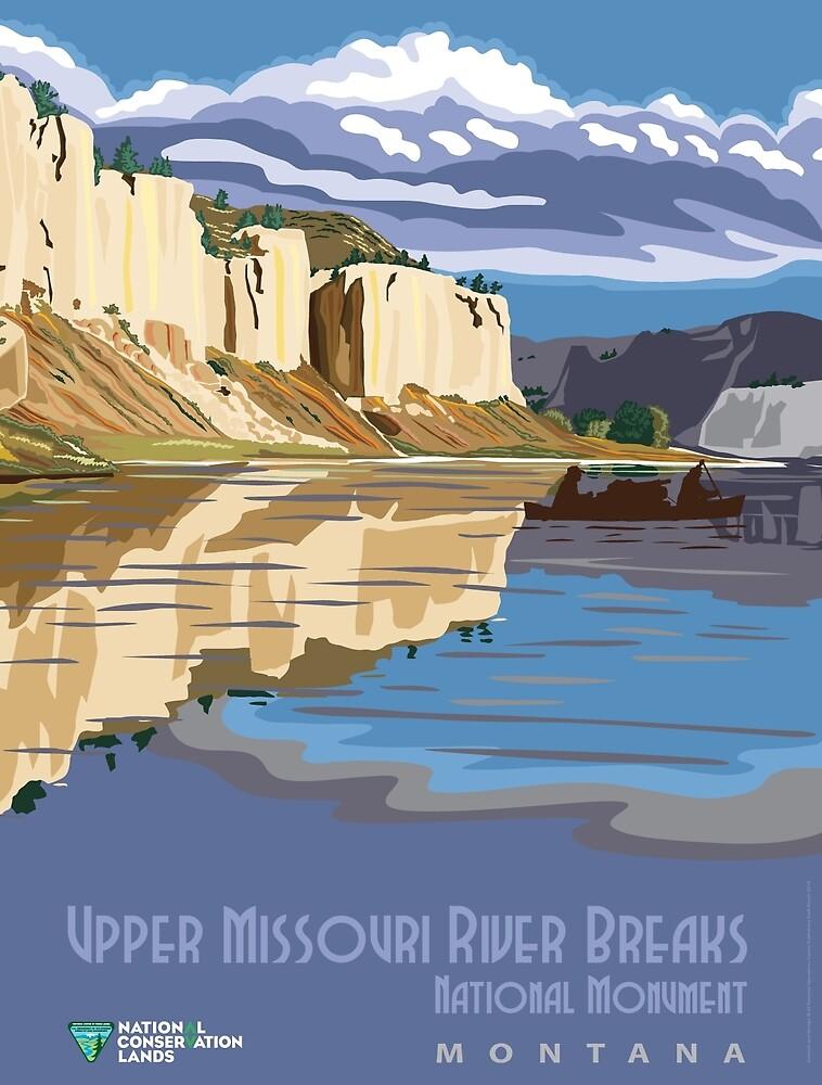 Vintage poster - Upper Missouri River Breaks by mosfunky