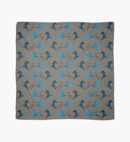 Blue Brown War Horse Scarf