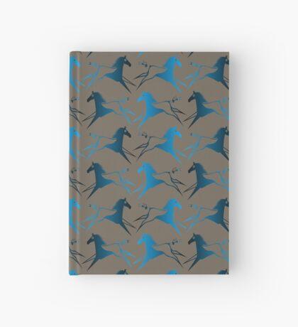 Blue Brown War Horse Hardcover Journal