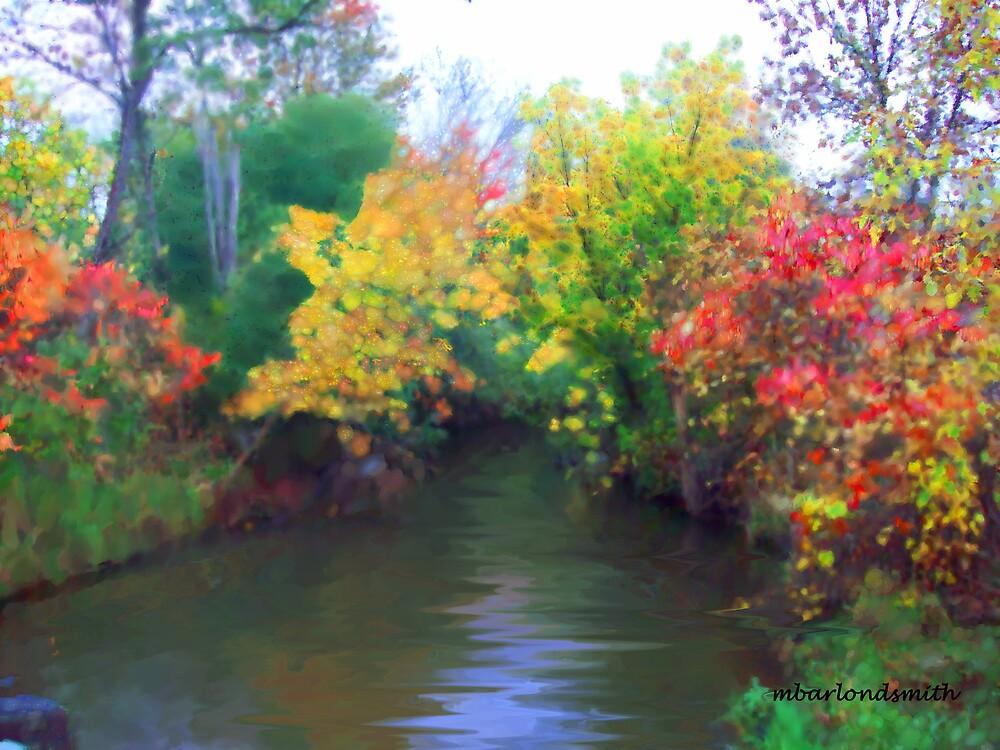 Fall Along the Stream by Michelle BarlondSmith