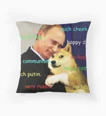 Putin doge Throw Pillow