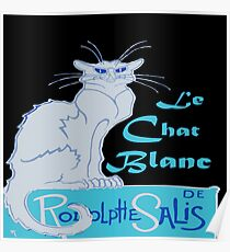 Le Chat Blanc Parody Vector Poster