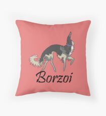 Chinchilla Borzoi Throw Pillow