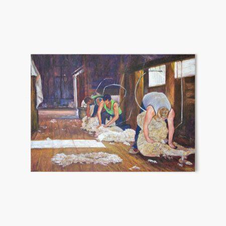 Shearing at Tarcombe Art Board Print