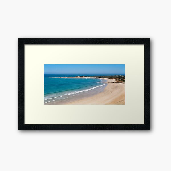 Message in the Sand,Point Roadknight Framed Art Print
