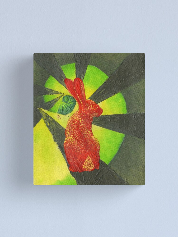 Alternate view of Red Hare (with a curl) Canvas Print