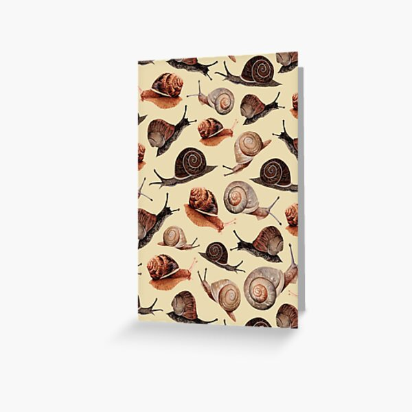 A Slew of Snails Greeting Card