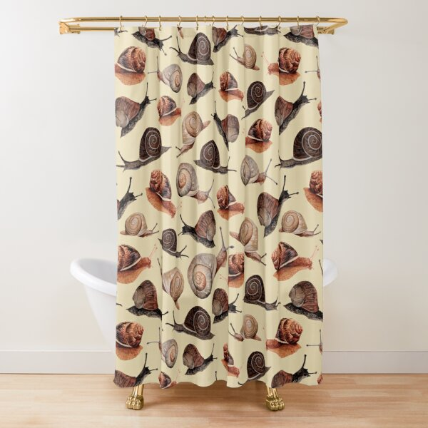 A Slew of Snails Shower Curtain