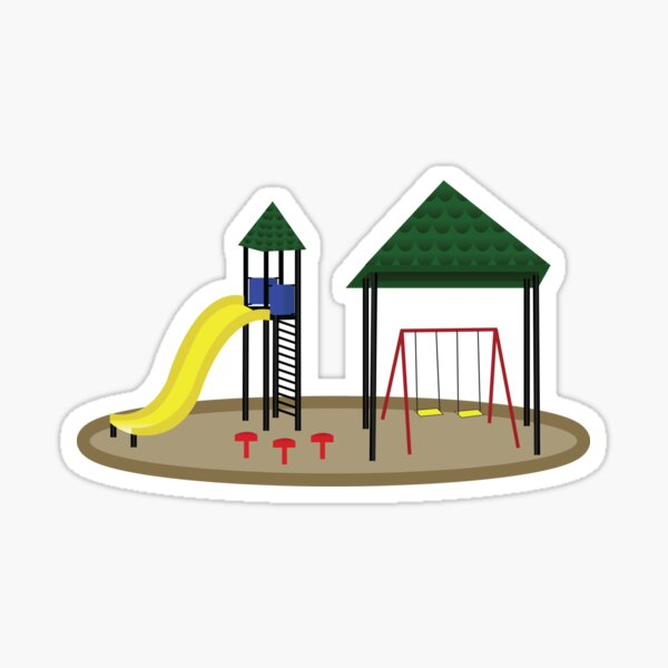Colorful Playground Slide and Swings Sticker