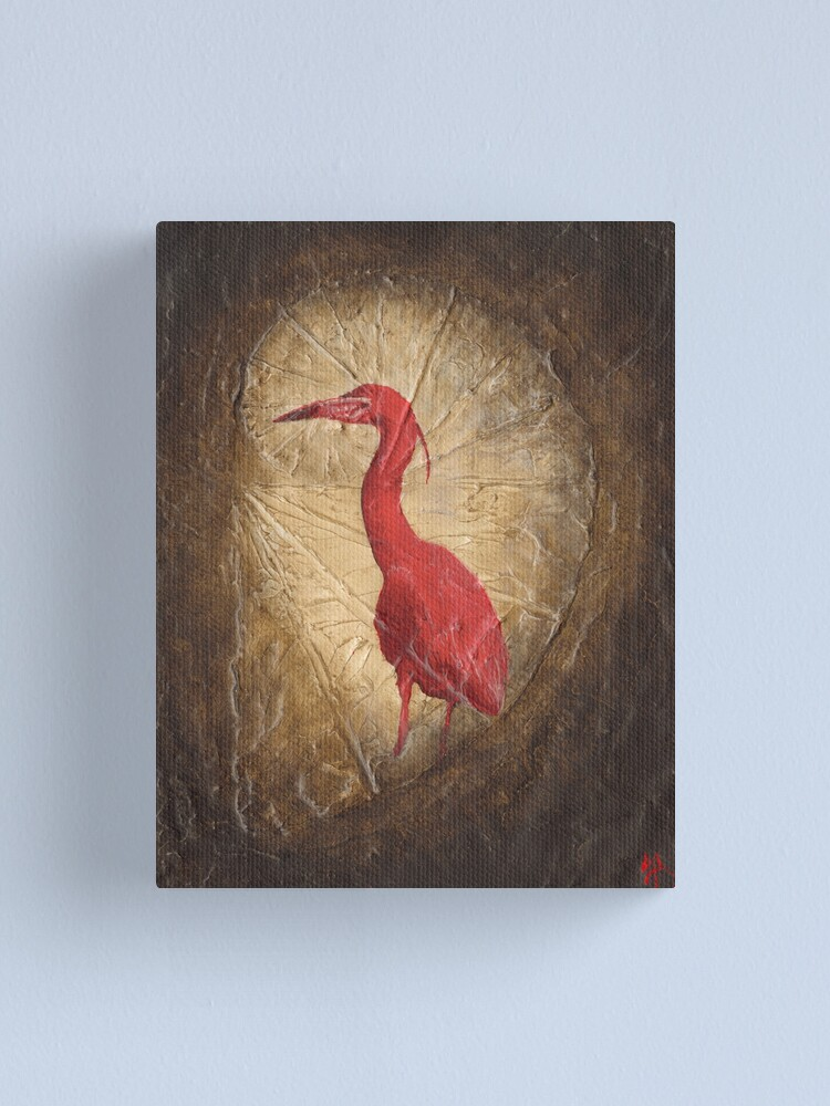 Alternate view of Red Heron Canvas Print