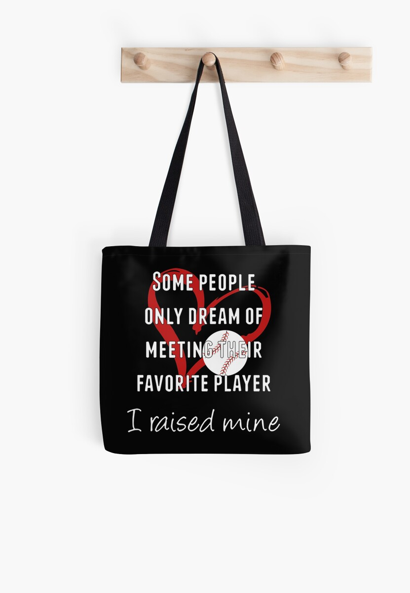 8b89c5b88014 'Baseball Mom Gifts/Softball Mom Gifts - Best Cute Gift for Her, Mom,  Women, Best Friend, Wife, Daughter or Sister - I Raised Mine' Tote Bag by  ...