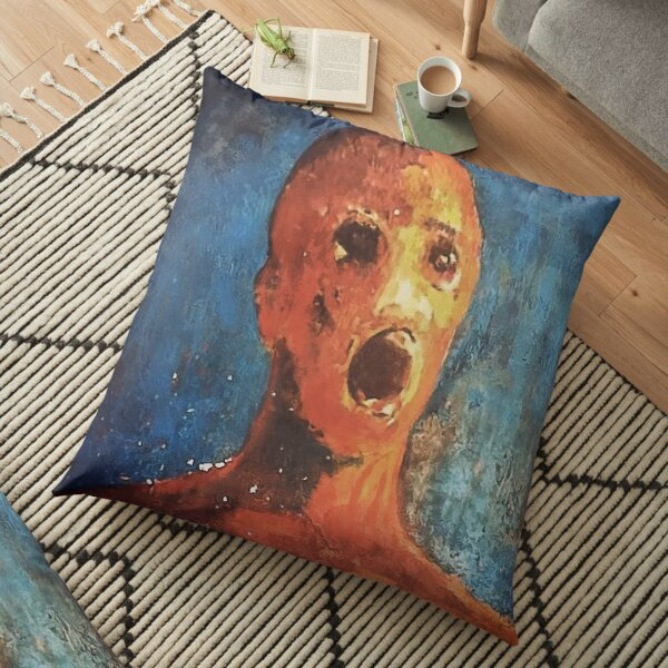 ANGUISHED MAN Floor Pillow