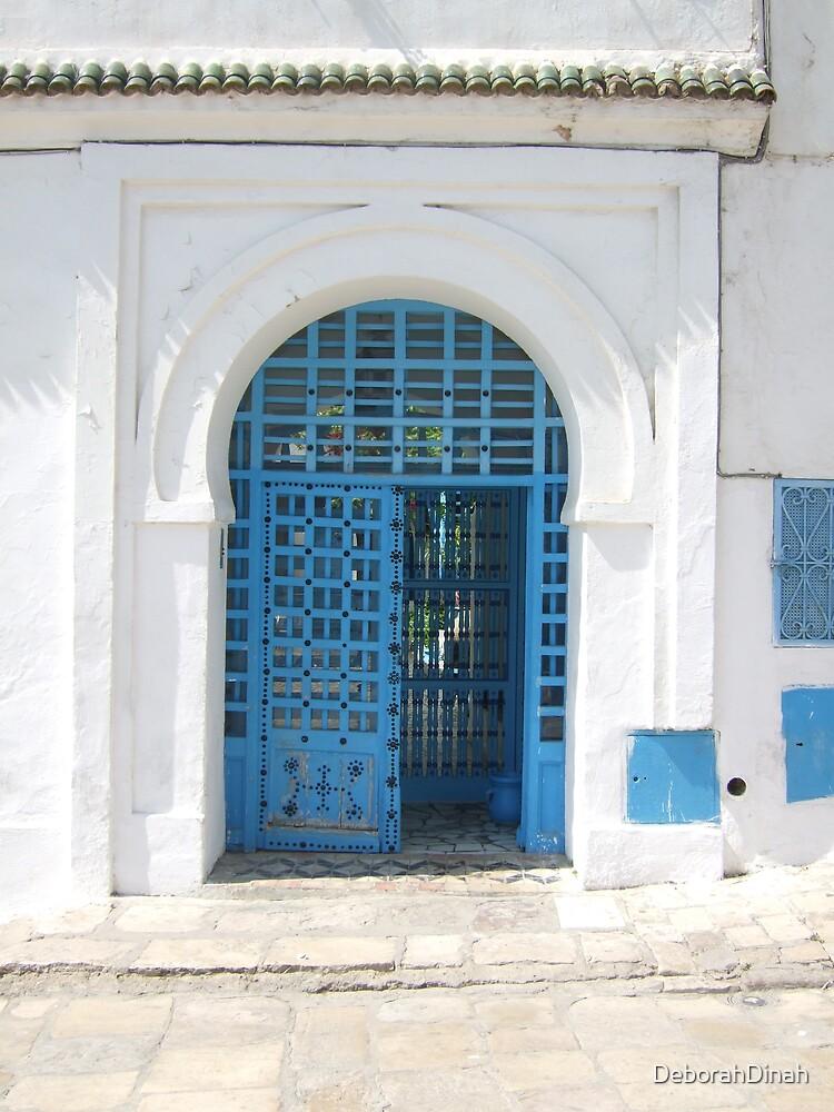 Blue door in Sidi Bou Said  Tunisia by DeborahDinah