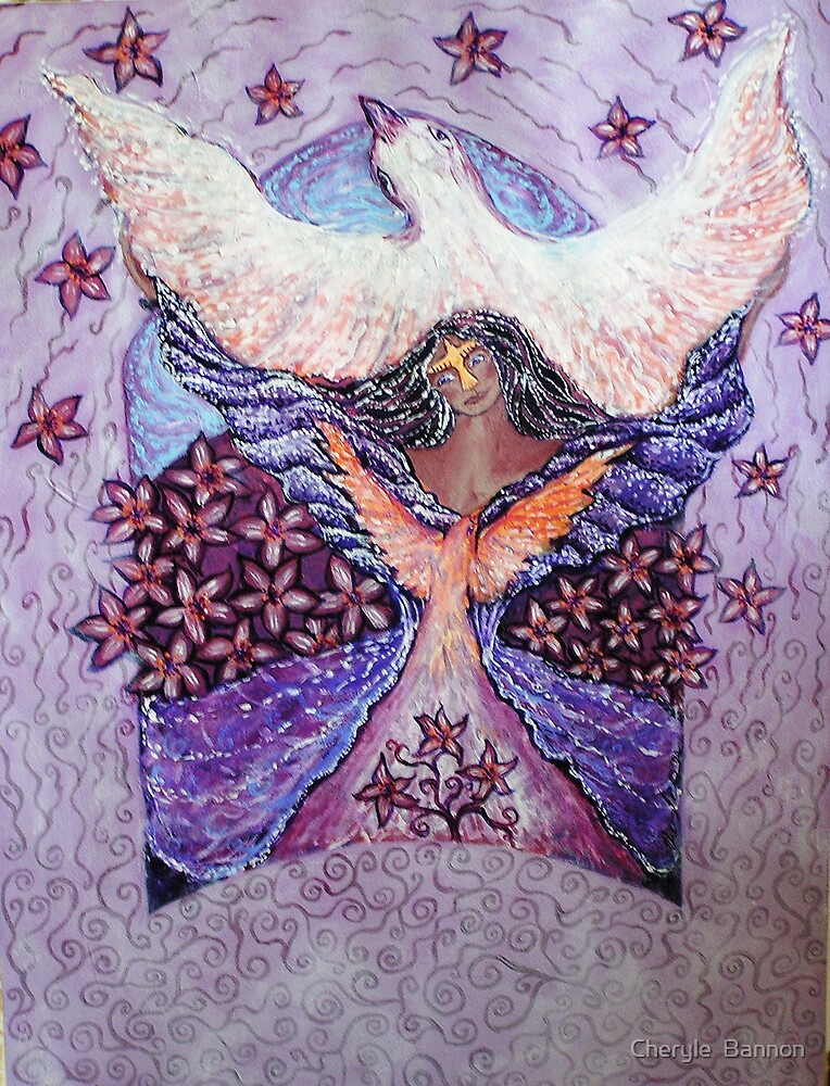 Dove Emerging by Cheryle  Bannon